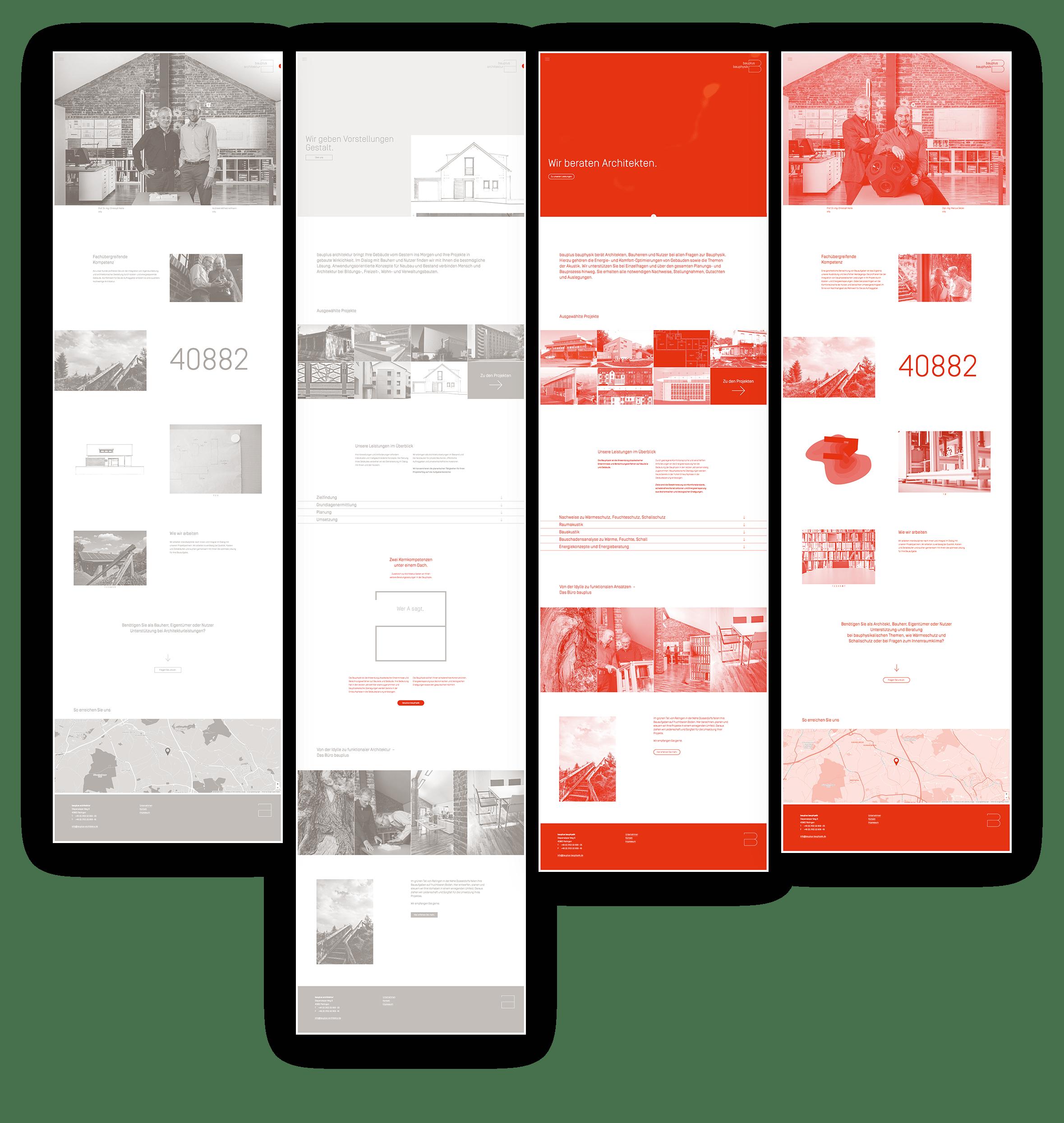 Responsive Webdesign | Webentwicklung Architektur- und Bauphysik-Büro bauplus – ZWEIPRO Kreativagentur für Architekten