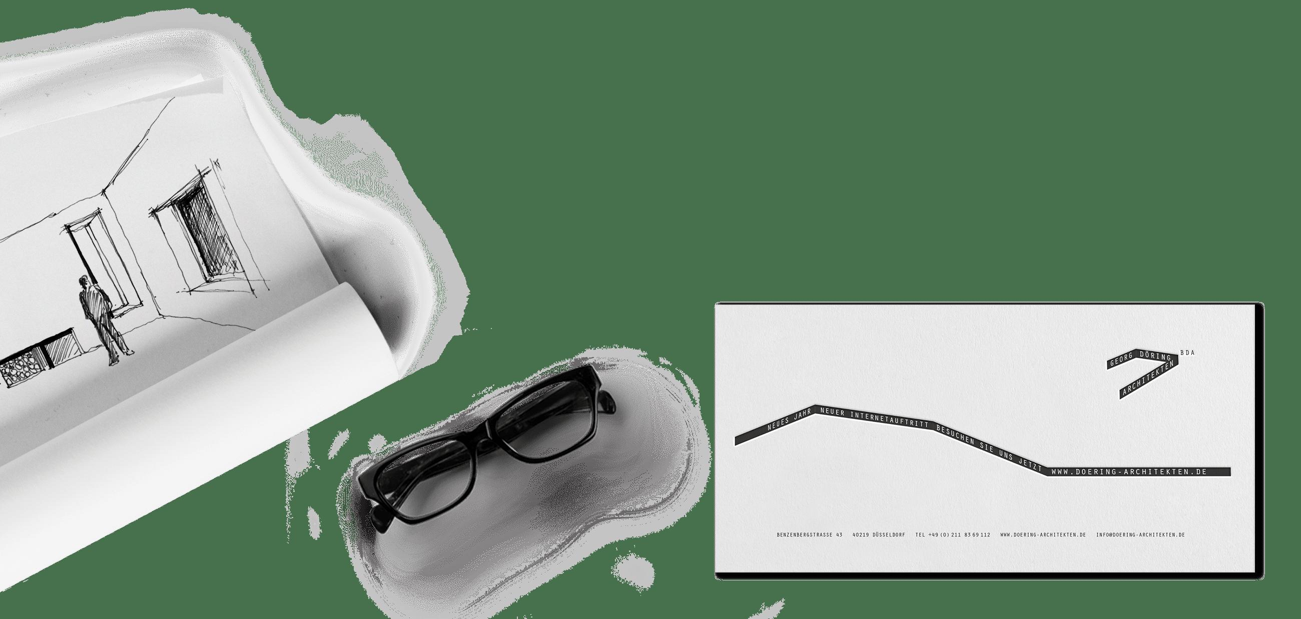 Print-Medien | Corporate Design Döring Architekten – ZWEIPRO Werbeagentur für Architekten