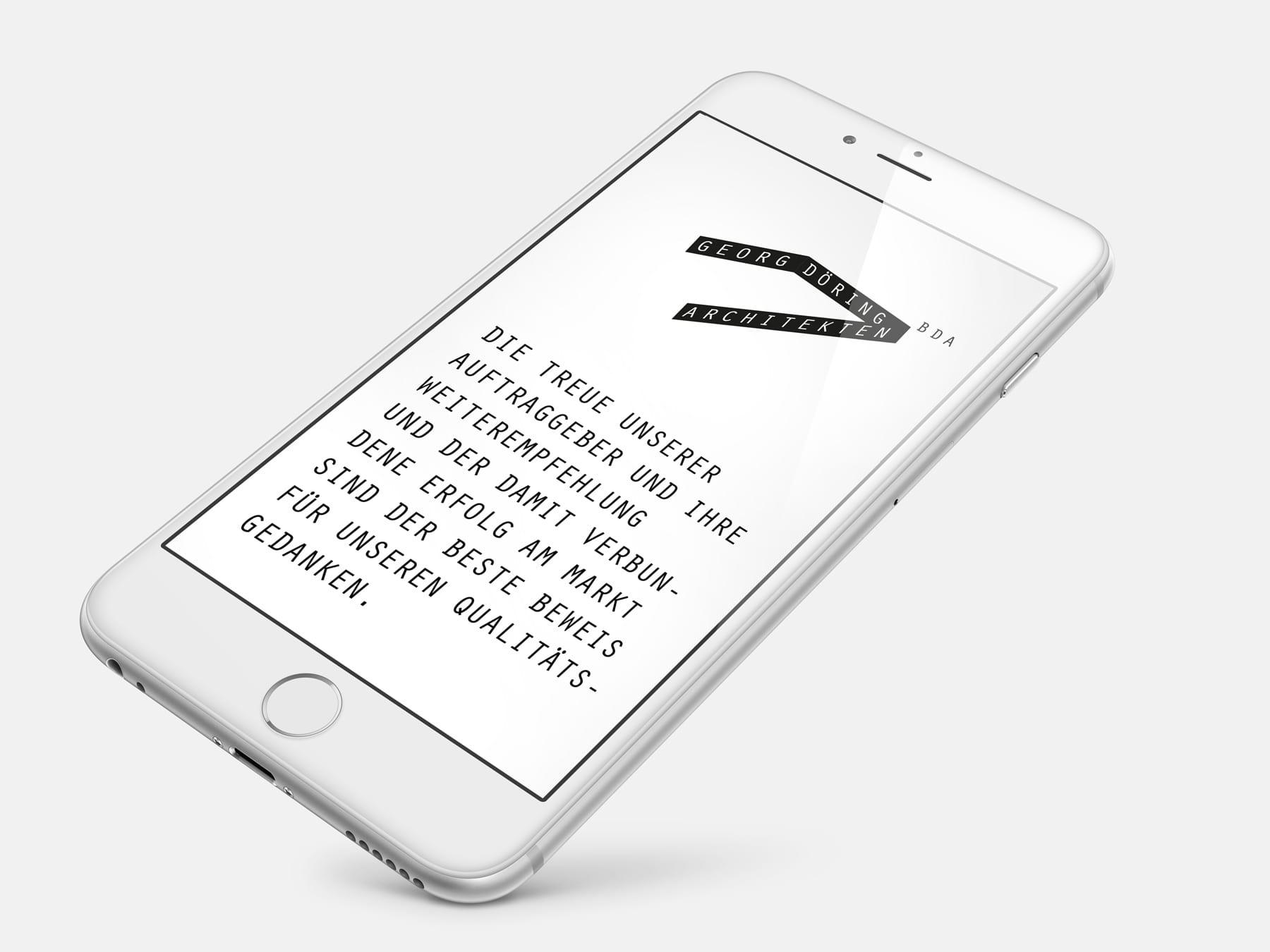 Responsive Webdesign | Webentwicklung Döring Architekten – ZWEIPRO Werbeagentur für Architekten