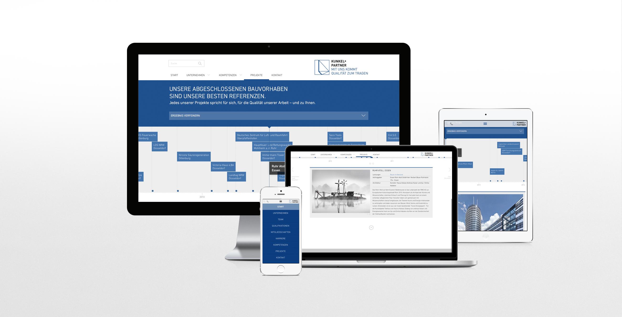 Responsive Webdesign | Webentwicklung Kunkel + Partner – ZWEIPRO Werbeagentur für Ingenieure