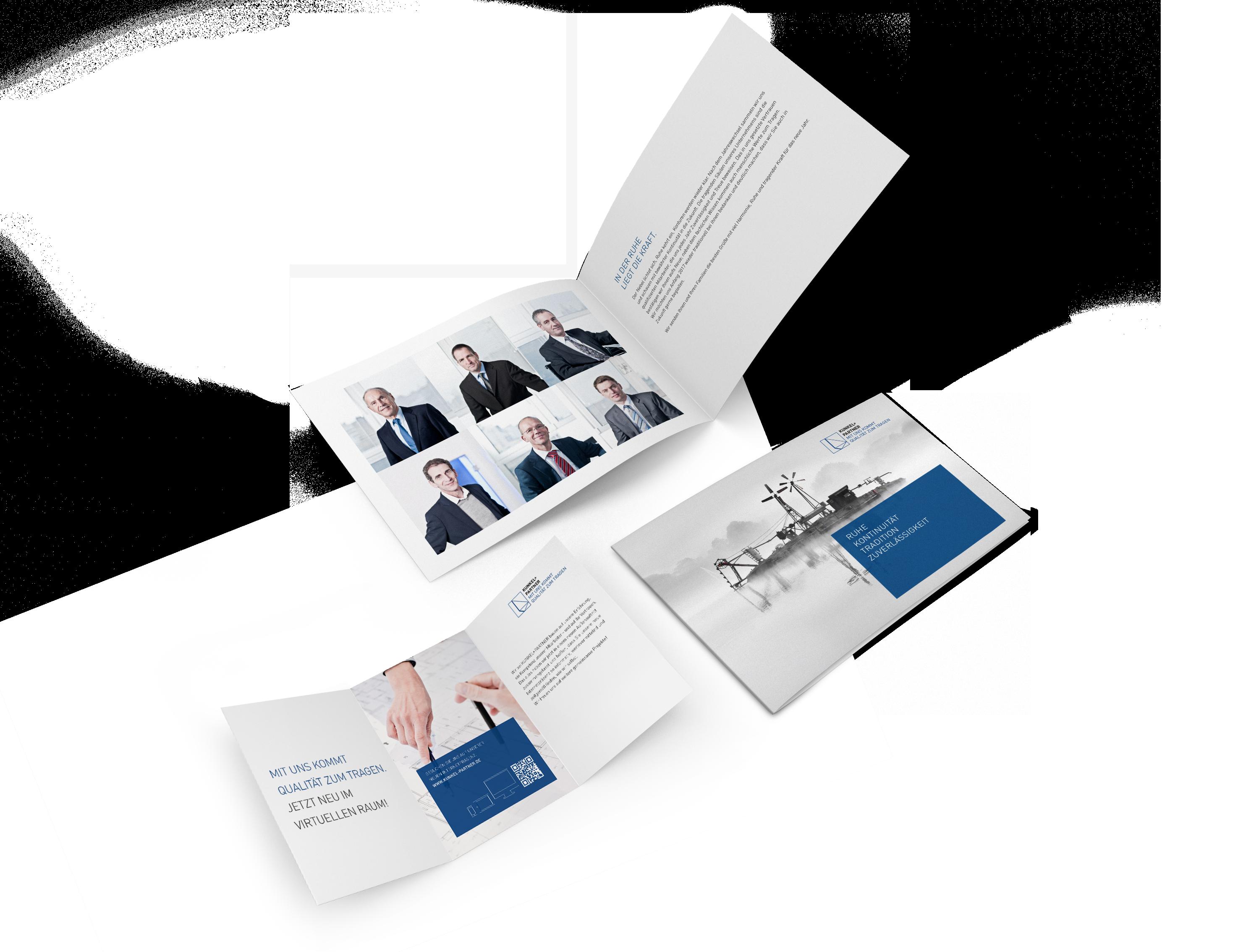 Printmedien | Corporate Design Kunkel + Partner – ZWEIPRO Werbeagentur für Ingenieure
