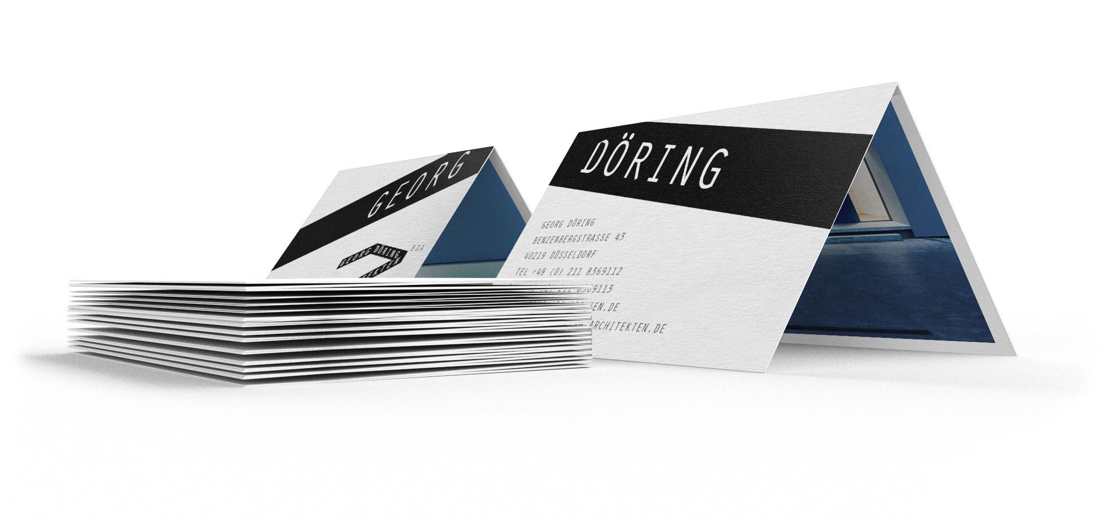 Visitenkarten | Corporate Design Döring Architekten – ZWEIPRO Werbeagentur für Architekten