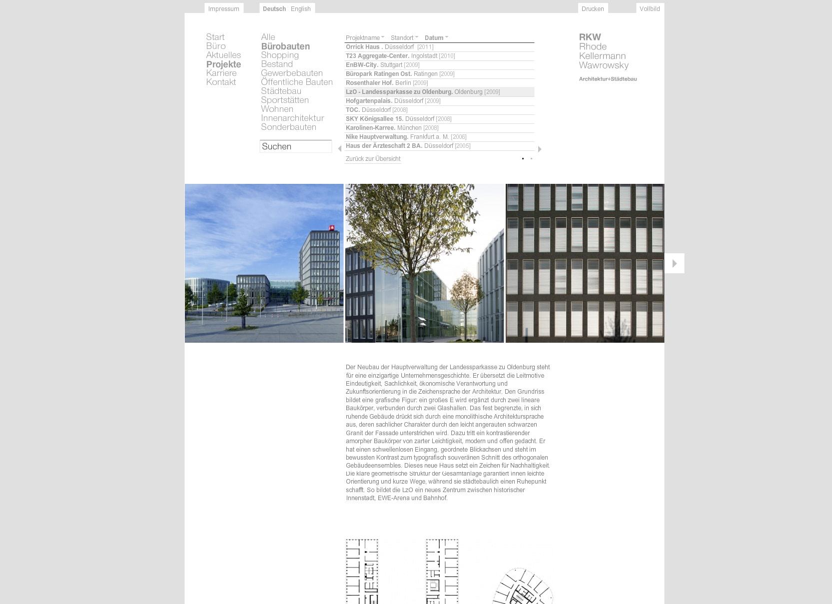 Internetauftritt RKW Architektur – ZWEIPRO Werbeagentur für Architekten